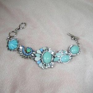 Turquoise Blue Rhinestone Fashion Bracelet